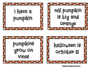 Pumpkin Sentence Sort