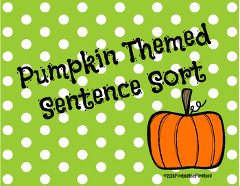 Pumpkin Sentence Sort