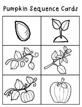 Pumpkin Sequence Cards & Worksheet