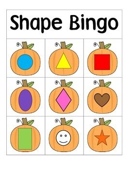 Pumpkin Shape Bingo