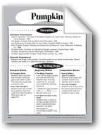 Pumpkin Shape Book
