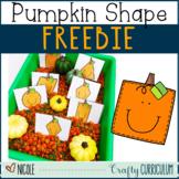 Pumpkin Shape Freebie