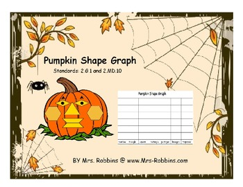 Pumpkin Shape Graph 2.G.1 and 2.MD.10