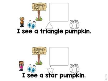 Pumpkin Shape Match Mini Adapted Book