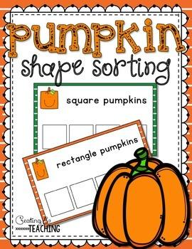 Pumpkin Shape Sorting