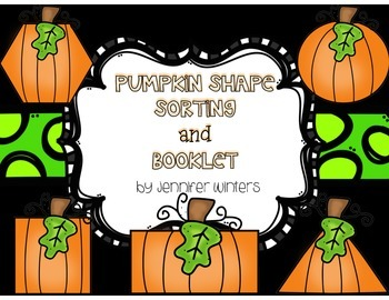 Pumpkin Shape Sorting and Booklet