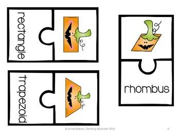 Pumpkin Shape puzzles--Jack-o-Shapes!