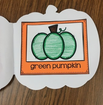 Pumpkin Shaped Book for Preschool, PreK, Kinder and Homeschool