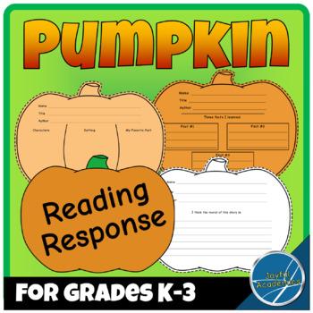 Pumpkin-Shaped Reading Response Sheets