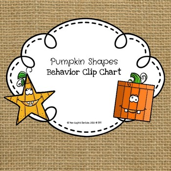 Pumpkin Shapes Behavioral Clip Chart