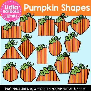 Pumpkin Shapes { Clip Art }