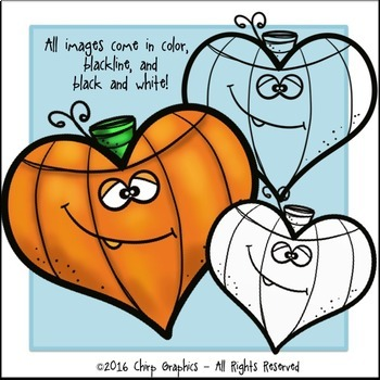 Pumpkin Shapes Clip Art Set - Chirp Graphics