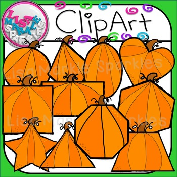 Pumpkin Shapes Clip Art for Commercial Use