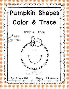 Pumpkin Shapes Color & Trace
