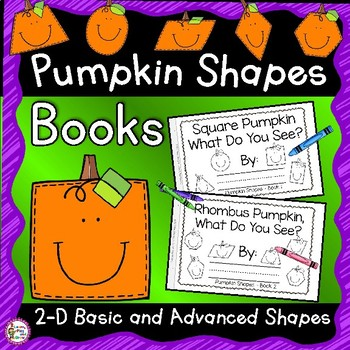 Pumpkin Shapes Emergent Reader - Square Pumpkin, What do you see?