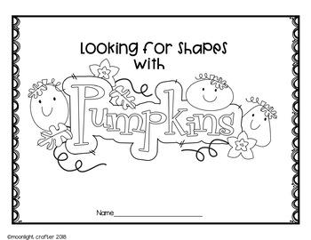 Pumpkin Shapes Emergent Reader and Mini Mat Set