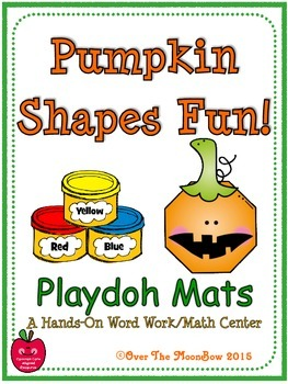 Pumpkin Shapes Fun! Playdoh Activity Pack