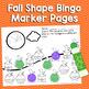 Fall Math Shapes Bingo Markers | Pre-K, K