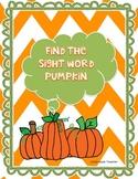 Pumpkin Sigh Word Game