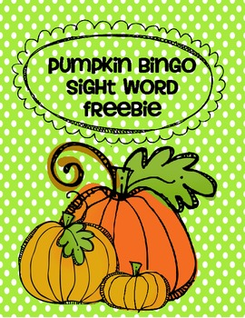 Pumpkin Sight Word Bingo
