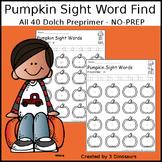 Pumpkin Sight Word Find: Preprimer