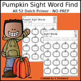 Pumpkin Sight Word Find: Primer