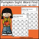 Pumpkin Sight Word Find: Second Grade