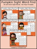 Pumpkin Sight Word Find (The Bundle)