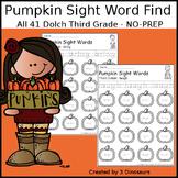 Pumpkin Sight Word Find: Third Grade