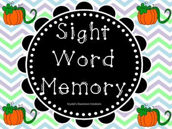 Pumpkin Sight Word Memory