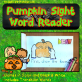 Halloween Activities : Sight Word Reader - Tracing Sentences - Transition Words