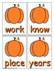 Pumpkin Sight Word Recognition Center or Whole Group Game for Fry 101-200