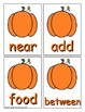Pumpkin Sight Word Recognition Center or Whole Group Game for Fry 201-300
