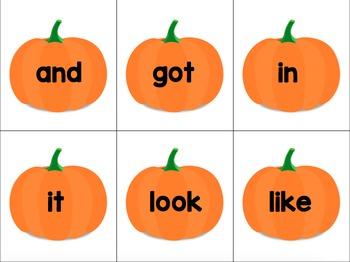 Pumpkin Sight Word SLAP Cards - EDITABLE FREEBIE