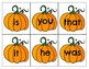 Pumpkin Sight Words BOO!