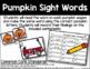 Pumpkin Sight Words - Sight Word Practice