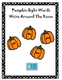 Pumpkin Sight Words- Write Around The Room