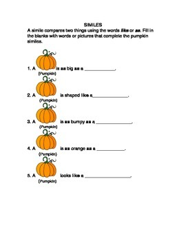 Pumpkin Simile