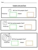 Pumpkin Sink And Float