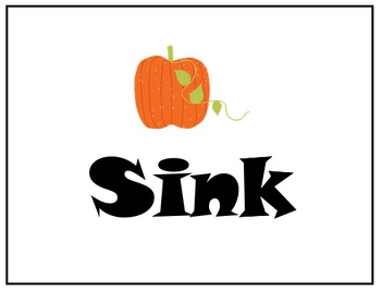 Fall Science - Pumpkin Sink & Float Signs
