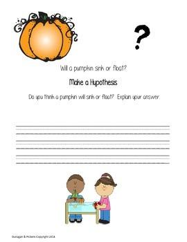 Pumpkin Sink or Float Experiment