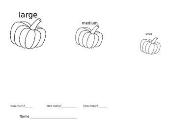 Pumpkin Size Sort