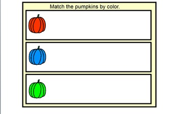 Pumpkin Size and Color Sort
