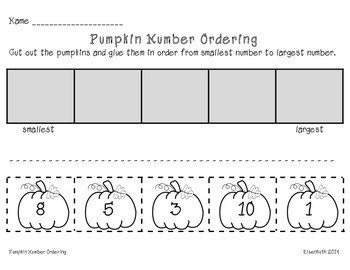 Pumpkin Size and Number Ordering