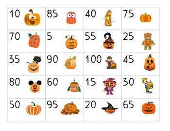 Pumpkin Skip Counting Cut & Paste Puzzle