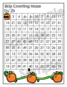 Pumpkin Skip Counting Set