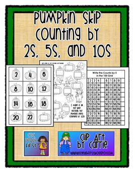 Pumpkin Skip Counting by 2s 5s and 10s