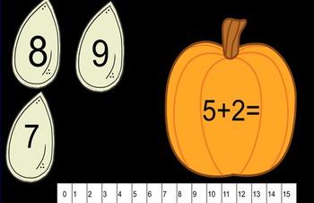 Pumpkin Smartboard Addition
