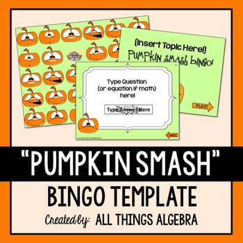 "Bingo Game Template: Fall ""Pumpkin Smash"""
