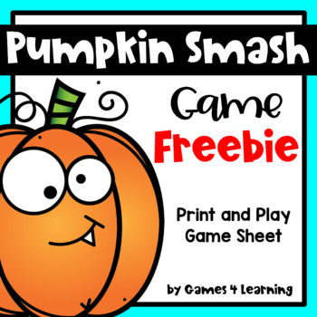Pumpkin Smash Printable Game: Thanksgiving Activity